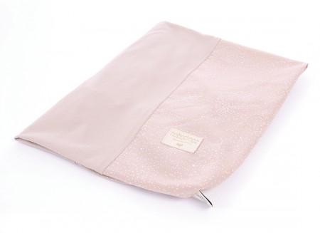 Housse de matelas à langer Calma 70x50 white bubble/ misty pink