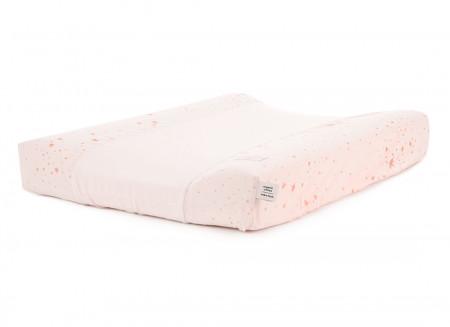 Matelas à langer imperméable Calma & housse 70X50 gold stella/ dream pink