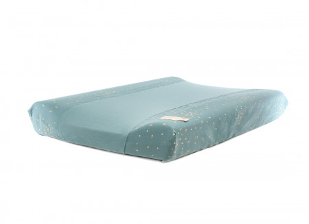 Matelas à langer & housse Calma 70x50 gold confetti/ magic green