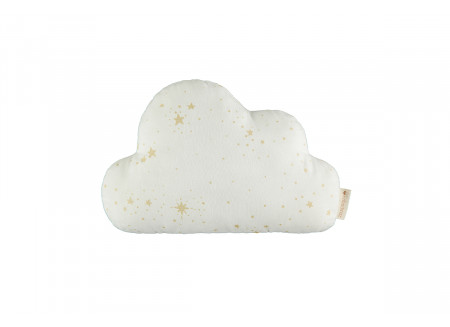 Coussin Cloud • gold stella white