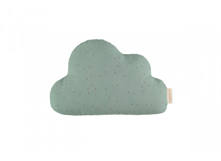 Coussin Cloud toffee sweet dots eden green
