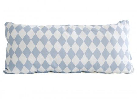Coussin Averell 52x24 losanges bleus