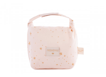 Eco lunch bag gold stella/ dream pink