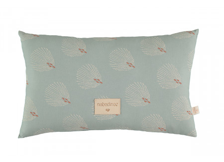 Coussin Laurel • white gatsby antique green