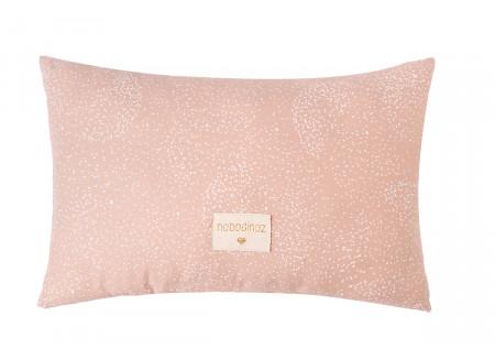 Coussin Laurel • white bubble misty pink