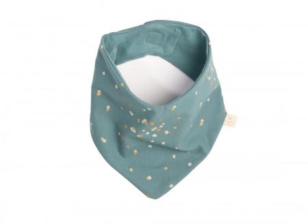Bavoir bandana Lucky gold confetti/ magic green
