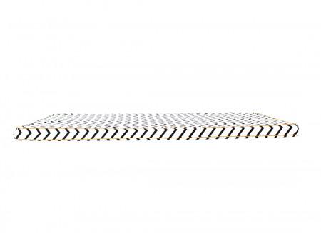 Matelas de sol Saint Tropez 120x60x4 zig zag noir