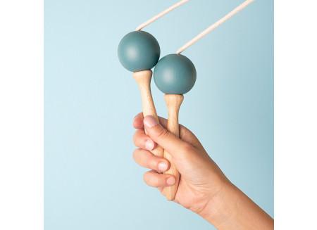 Corde à sauter 210cm bleue