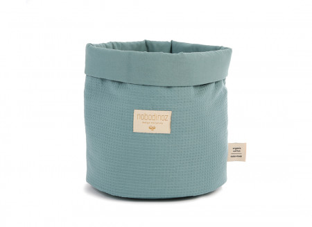 Panda basket Large honeycomb 29X25 magic green