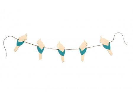 Guirlande de perroquets 165cm blue