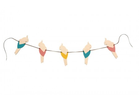 Guirlande de perroquets 165cm multicolor