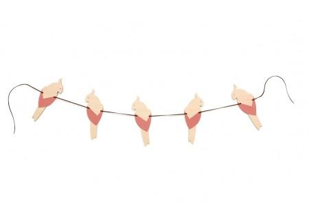 Guirlande de perroquets 165cm pink
