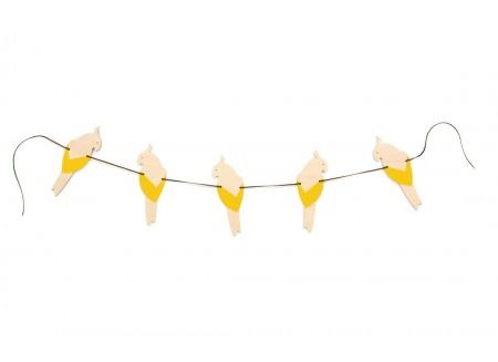Guirlande de perroquets 165cm yellow