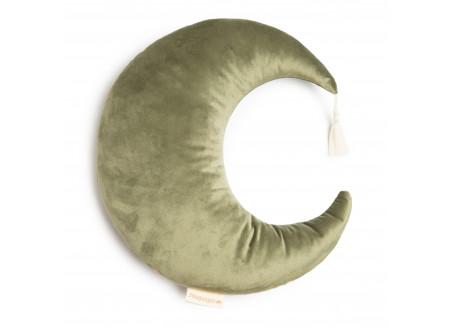 Coussin Pierrot • velvet olive green