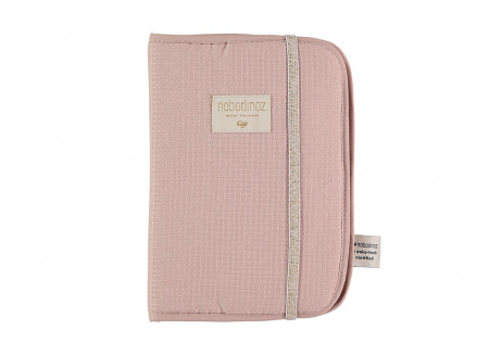 Protège-carnet de santé A5 nid d'abeille misty pink