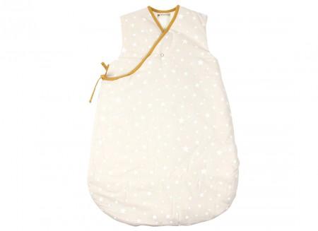 Gigoteuse Montreal sable et étoiles blanches - 2 tailles