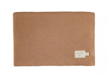 Couverture So Natural en tricot • Biscuit