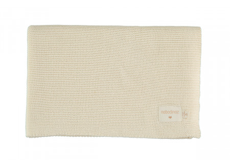 Couverture So Natural en tricot • Natural