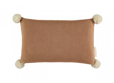 Coussin So Natural en tricot • Biscuit