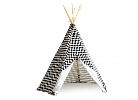 Tipi Arizona 158x128 losanges noirs