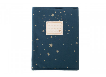 Protège-cahier A5 Too Cool gold stella/ night blue