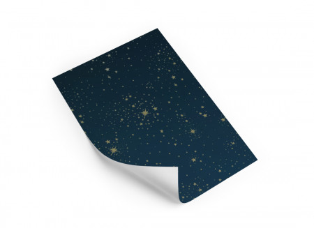 Echantillon Papier peint 21x30 gold stella/ night blue