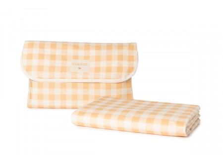 Nappe de picnic Sunshine • melon vichy