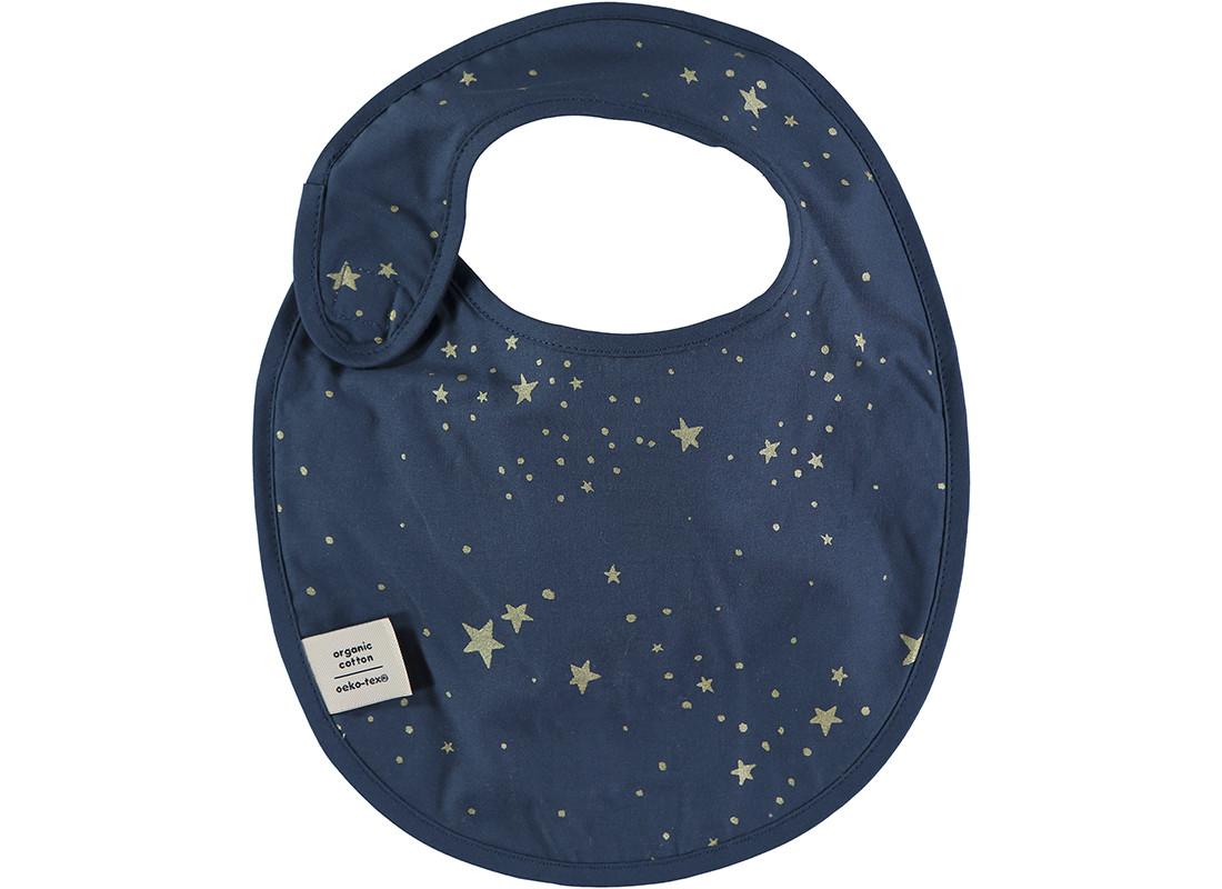 Bavoir Candy 34x26 gold stella/ night blue