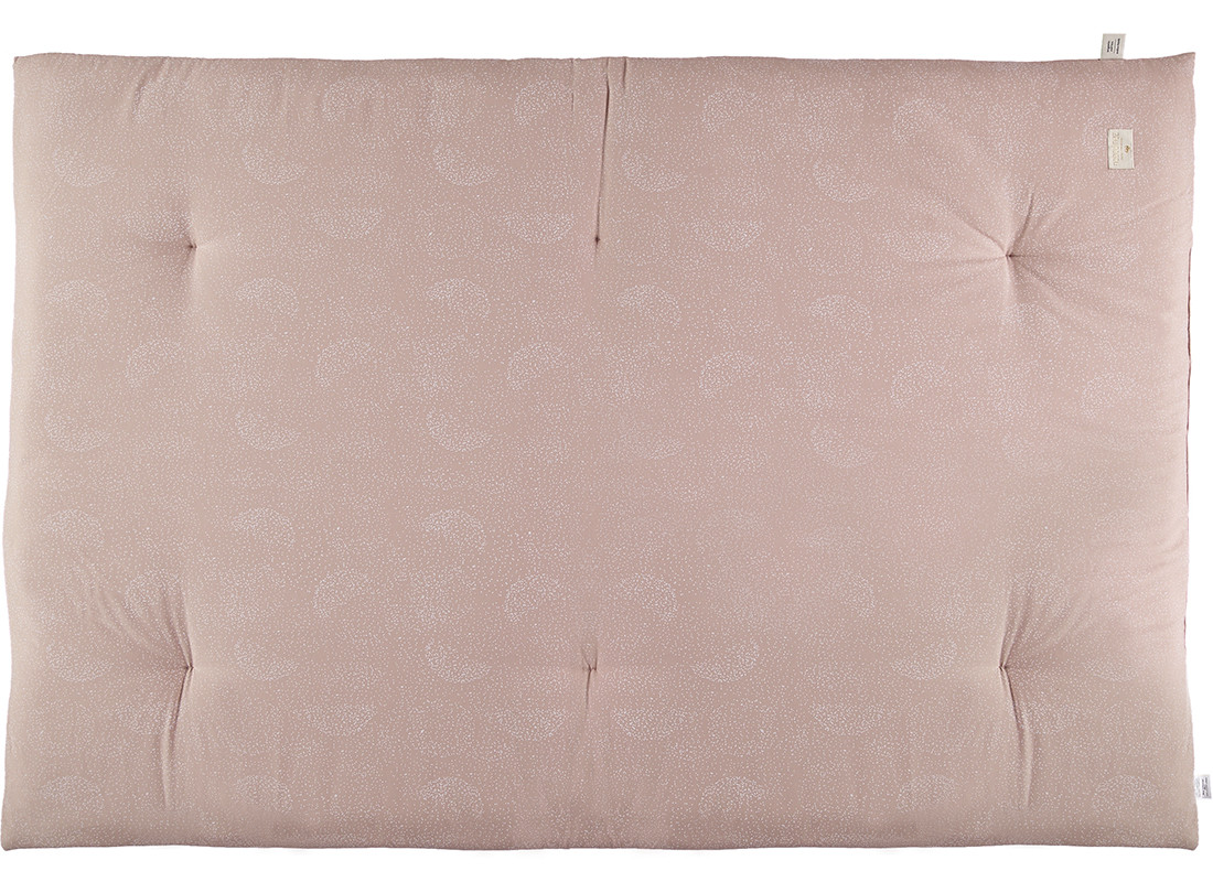 Futon Eden • white bubble misty pink