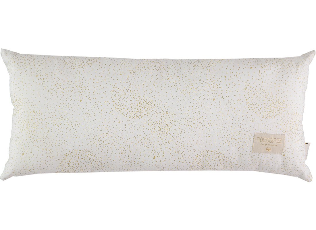 Coussin Hardy 22x52 gold bubble/ white