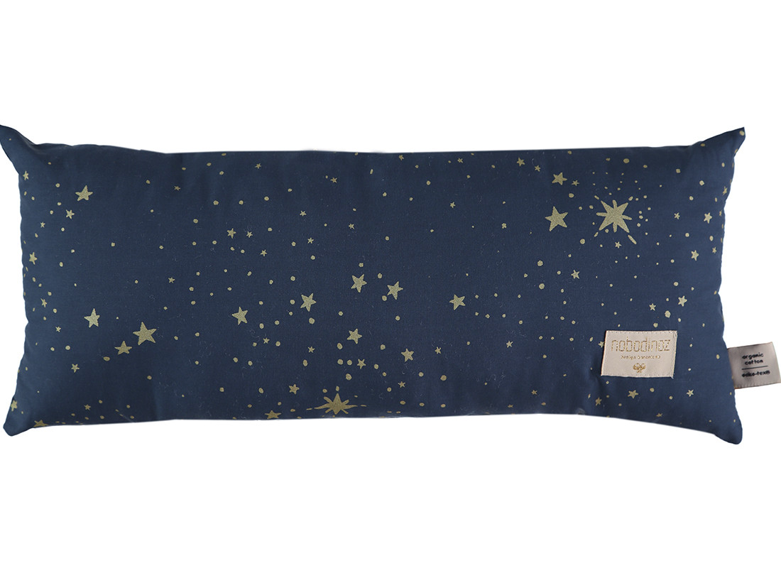 Coussin Hardy 22x52 gold stella/ night blue