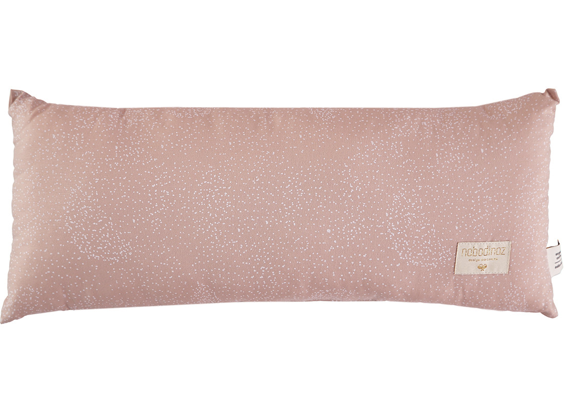 Coussin Hardy white bubble misty pink