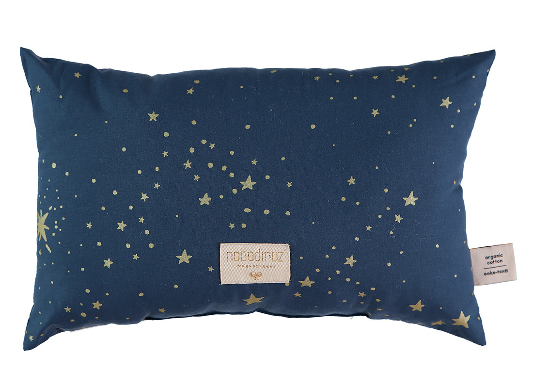 Coussin Laurel 22x35 gold stella/ night blue