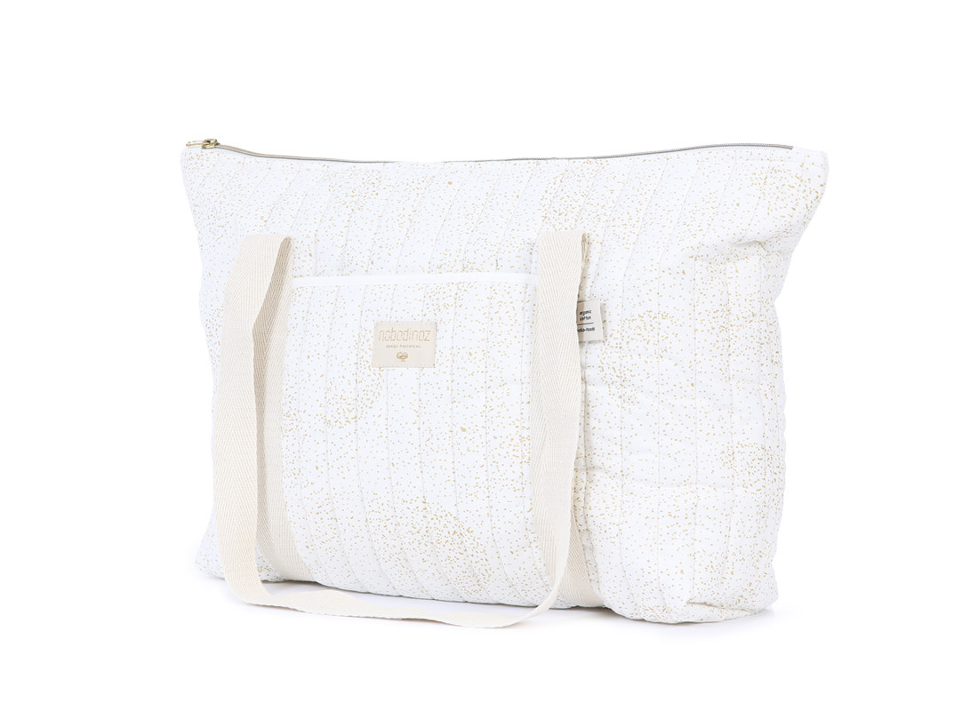 Sac maternité Paris 34x50x12 gold bubble/ white