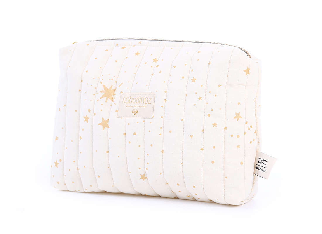 Trousse de toilette Travel 18x25x7 gold stella/ natural
