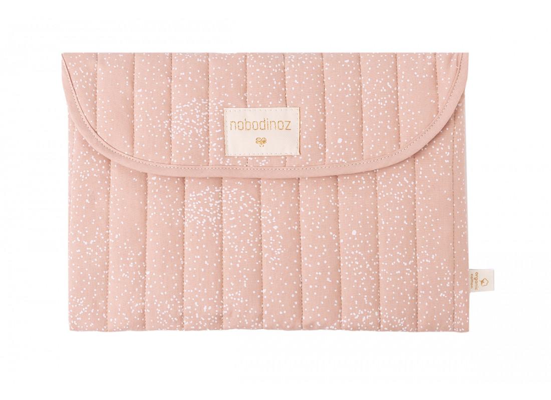 Pochette Bagatelle • white bubble misty pink