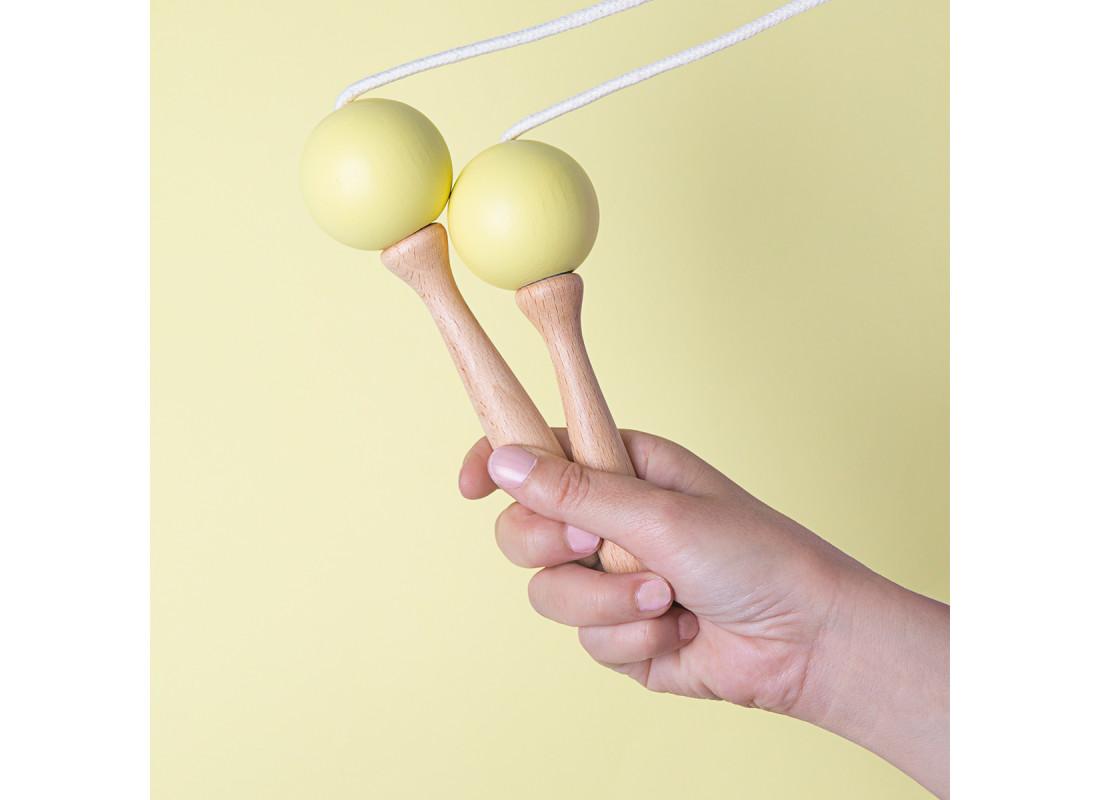 Corde à sauter 210cm jaune