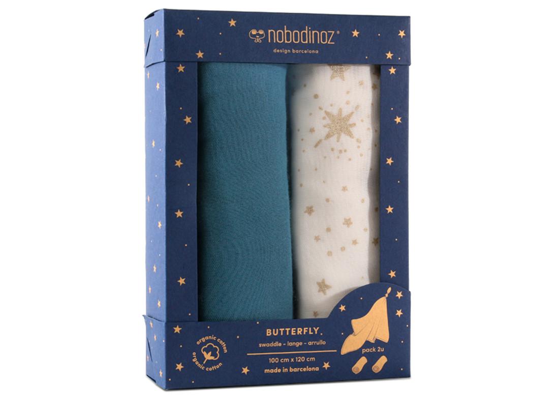 Boîte 2u langes Butterfly 100x120 pack blue