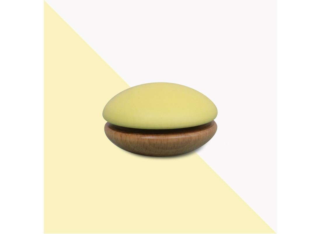 Yoyo en bois 6x6x4cm jaune