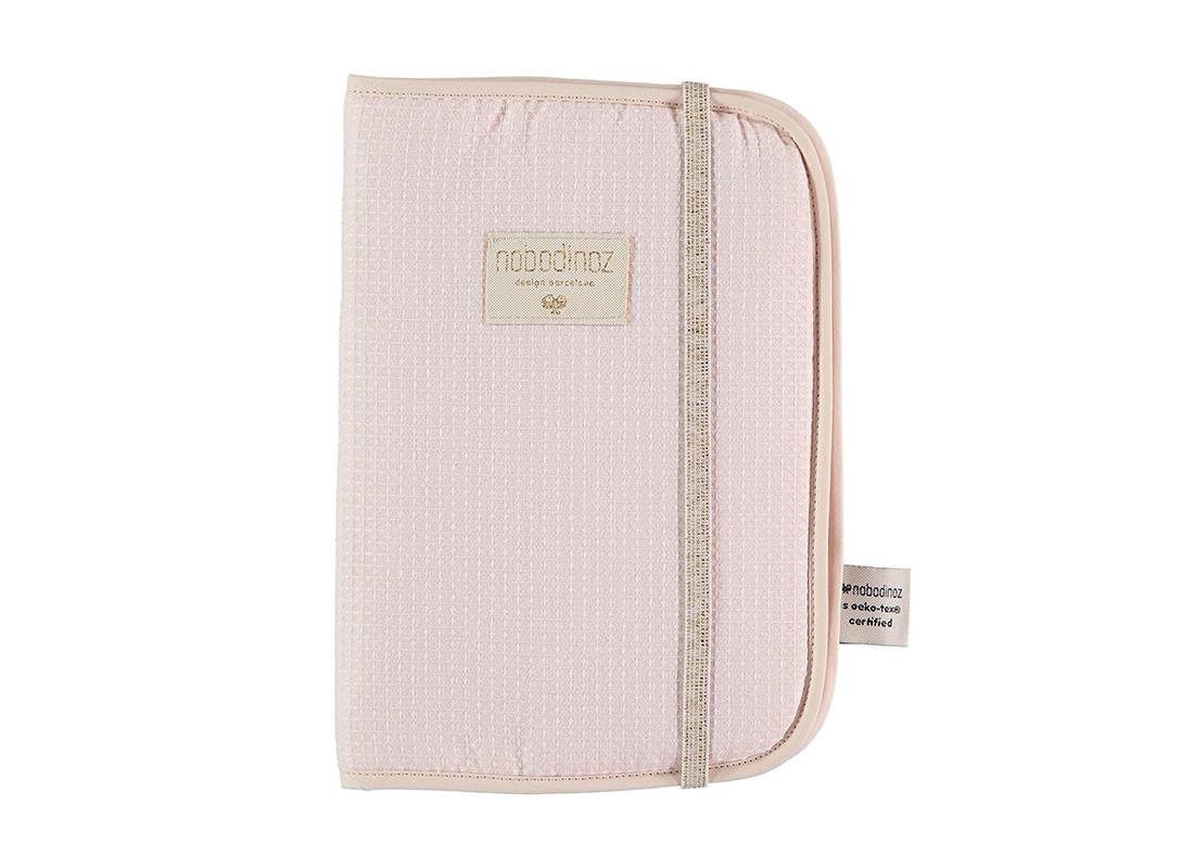 Protège-carnet de santé Poema nid d'abeille A5 24x18 dream pink